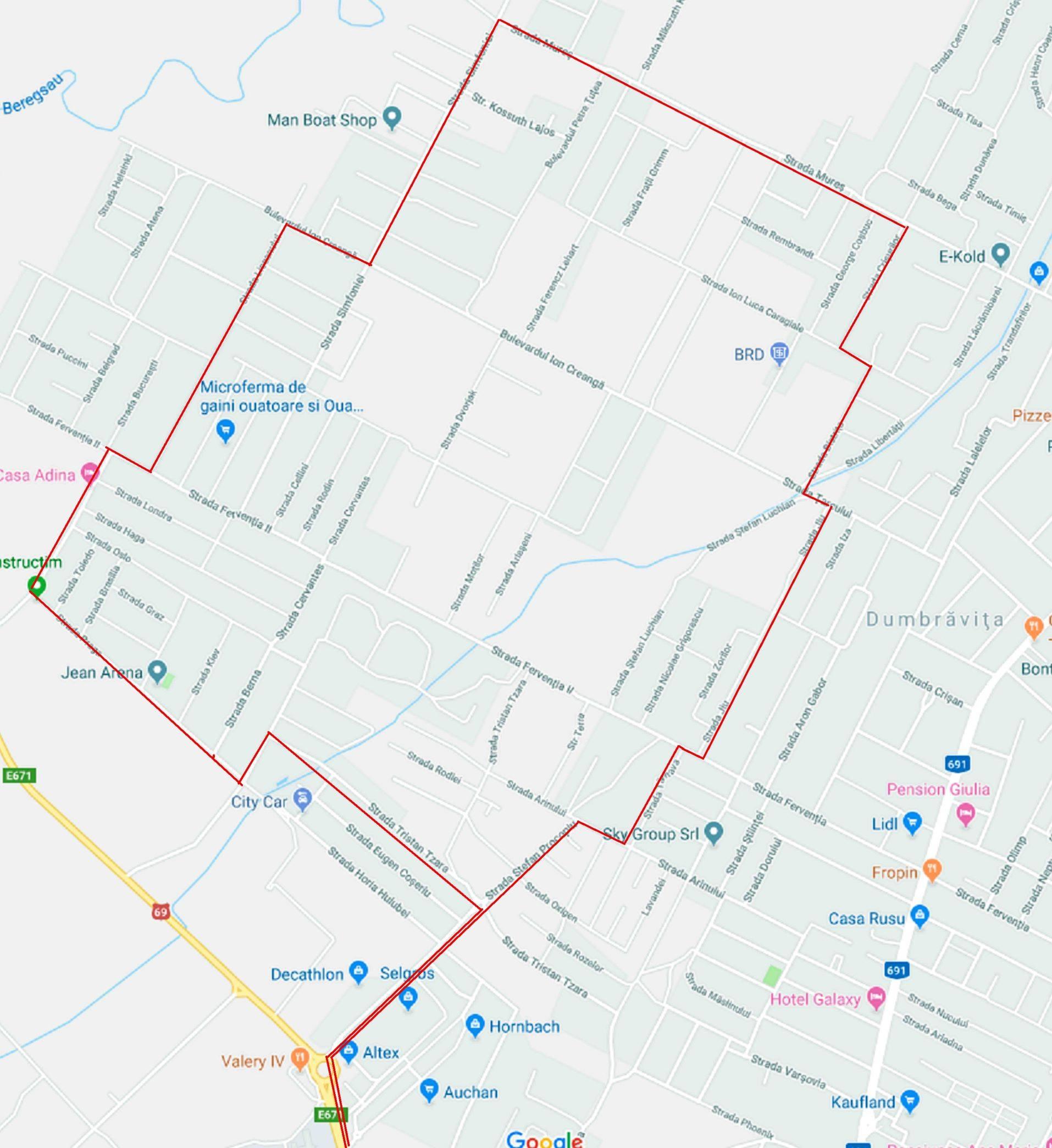 Posibilă Extindere A Traseului M45 Primaria Comunei Dumbravita